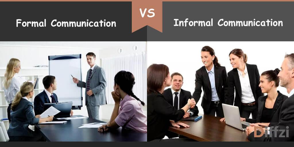 formal communication vs informal communication