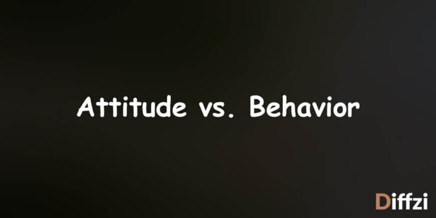 Attitude vs. Behavior