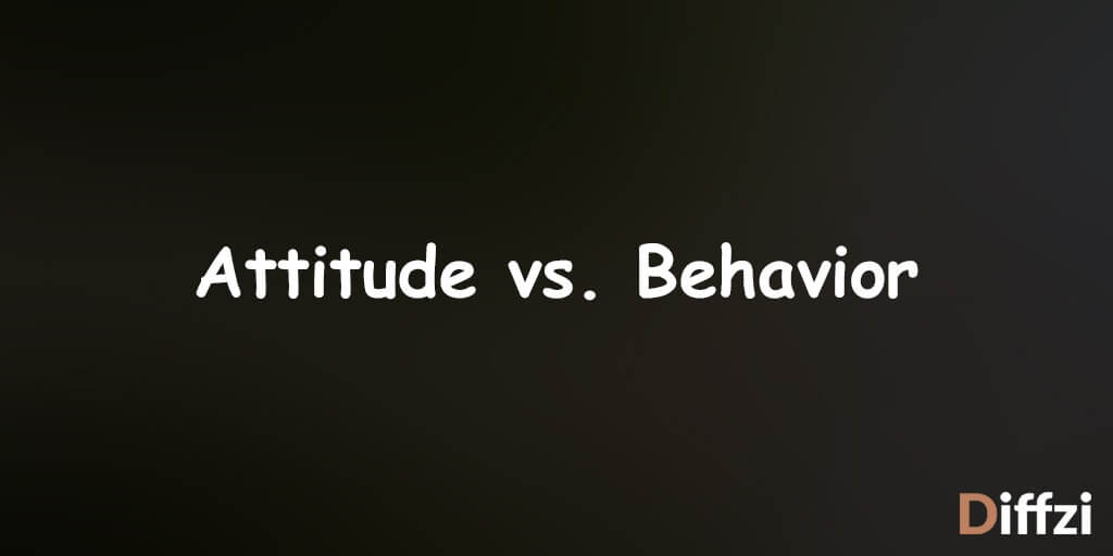 Attitude vs. Behavior