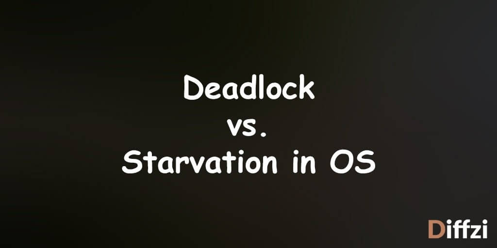 Deadlock vs. Starvation in OS