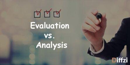 Evaluation vs. Analysis