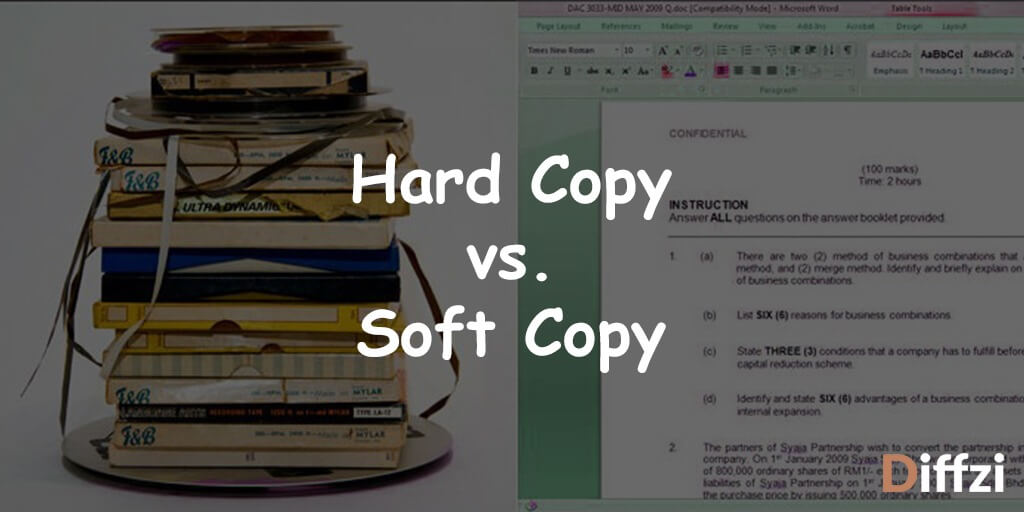 Hard Copy vs. Soft Copy