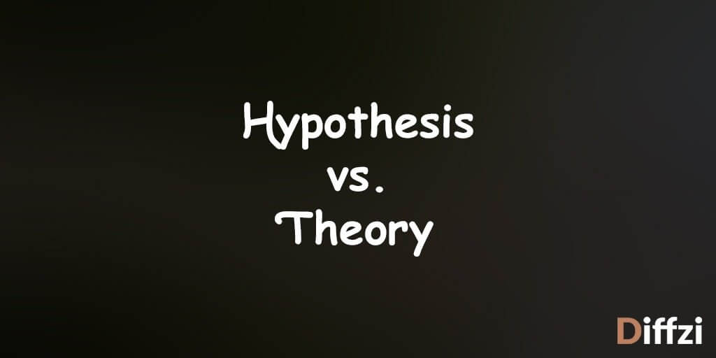 Hypothesis vs. Theory