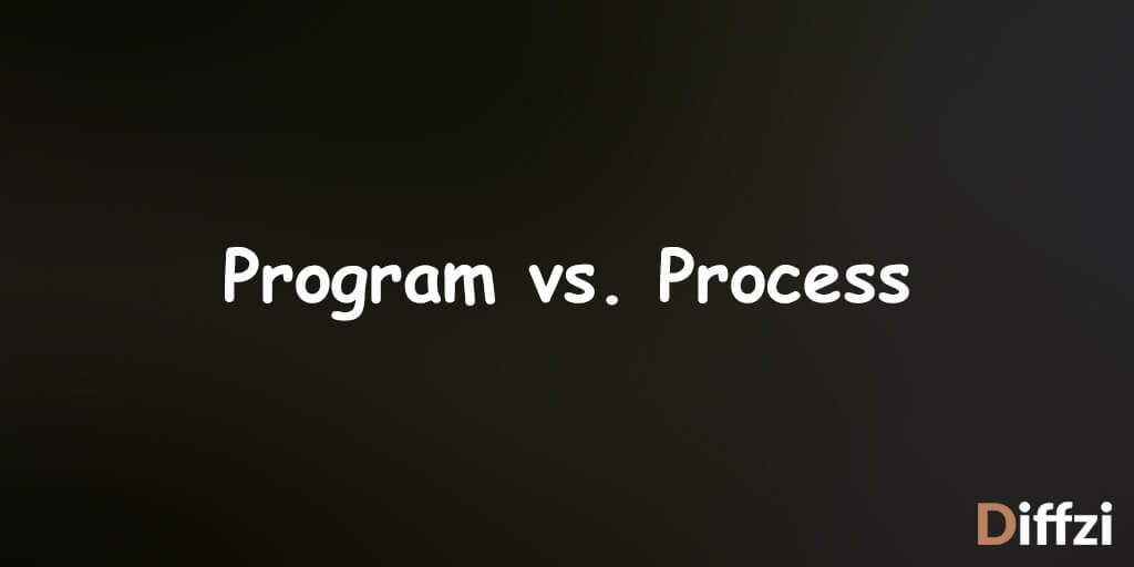 Program vs. Process