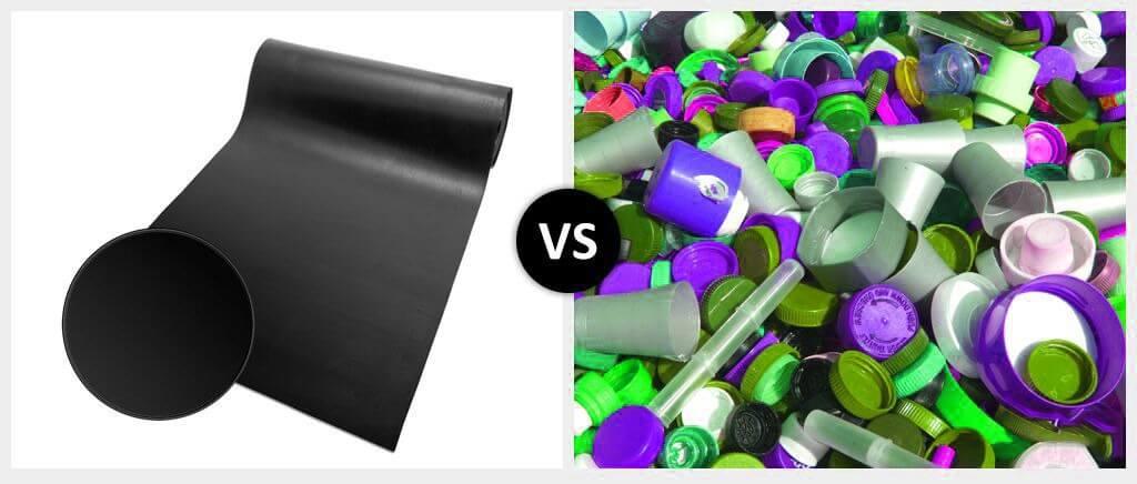 Rubber vs. Plastic