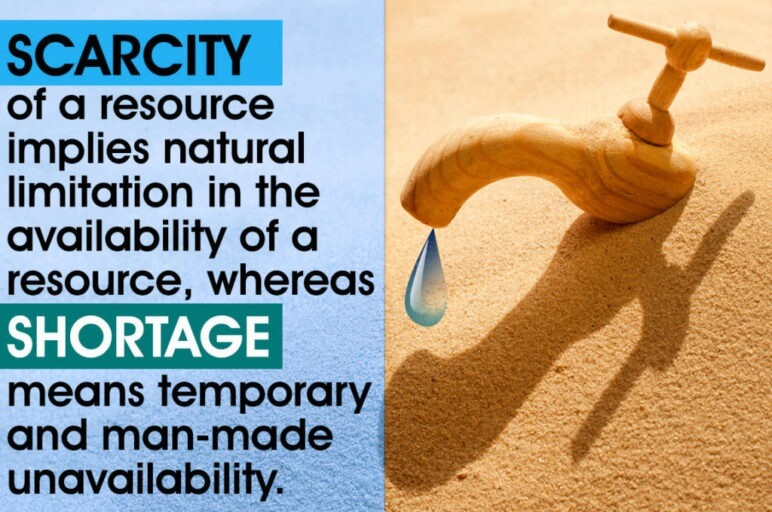 Scarcity vs. Shortage
