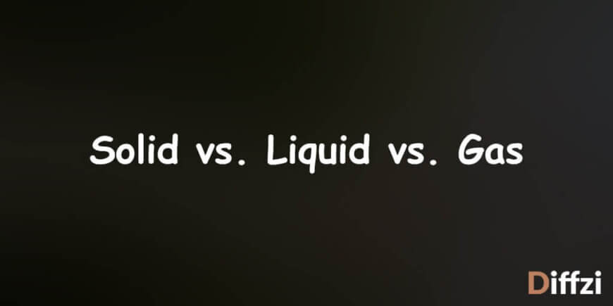 Solid vs. Liquid vs. Gas