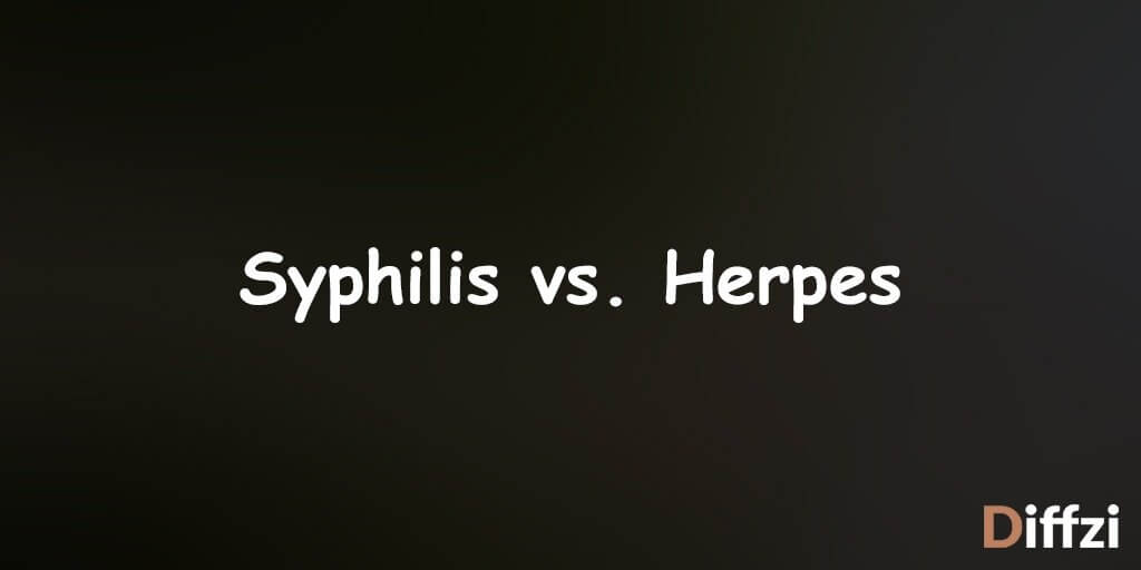 Syphilis vs. Herpes 1