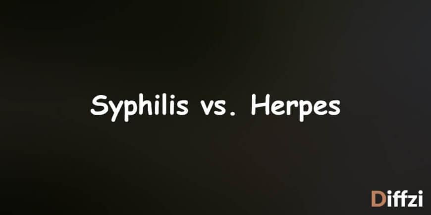 Syphilis vs. Herpes 1