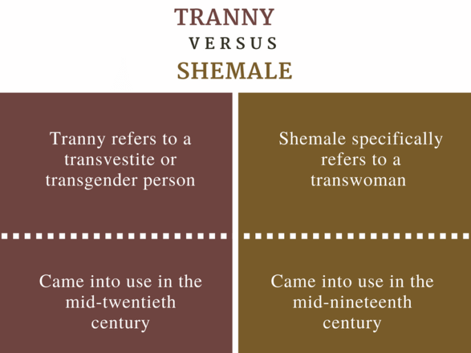 Difference between Tranny and Shemale