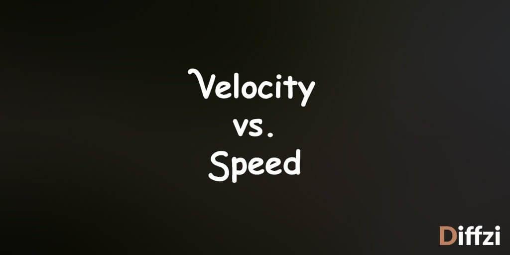 Velocity vs. Speed