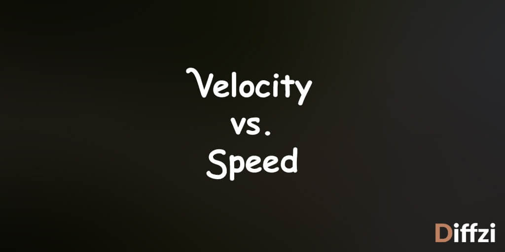 Velocity vs. Speed