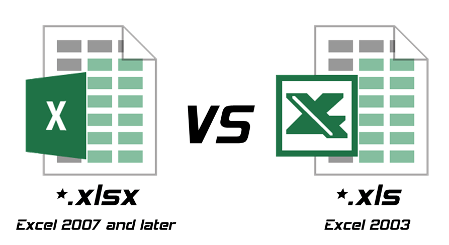 XLS vs  XLSX – Difference and Comparison – Diffzi