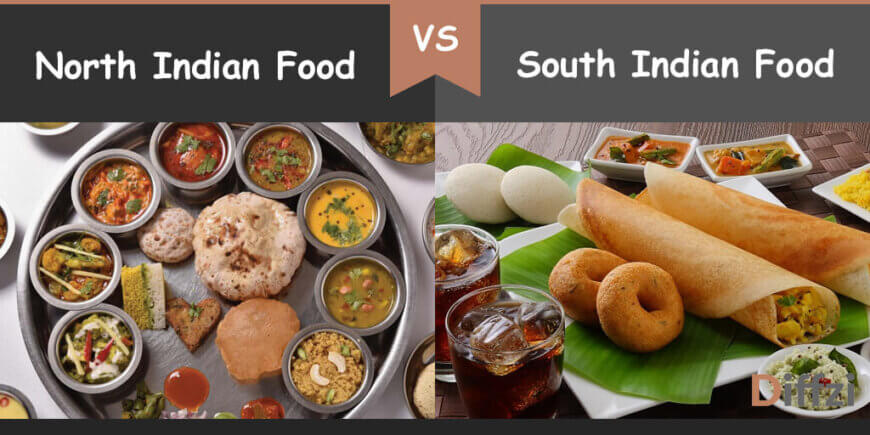 north indian food vs south indian food