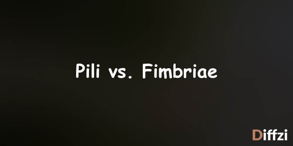 Pili vs. Fimbriae