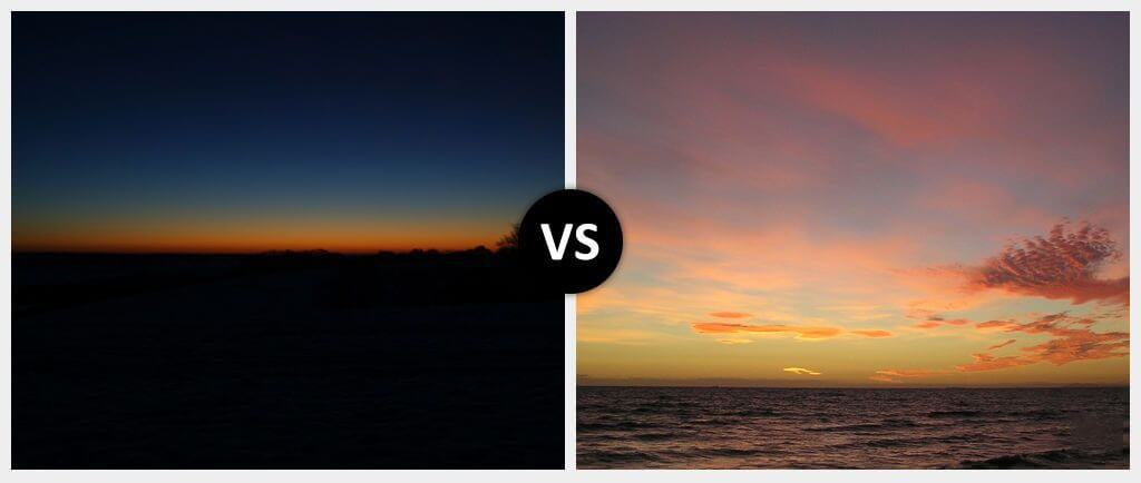 dawn vs dusk