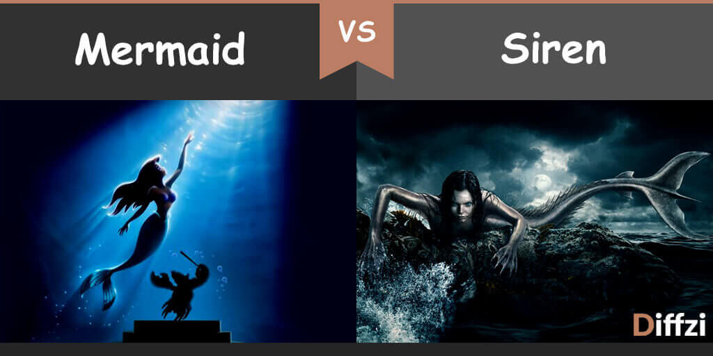 mermaid vs siren