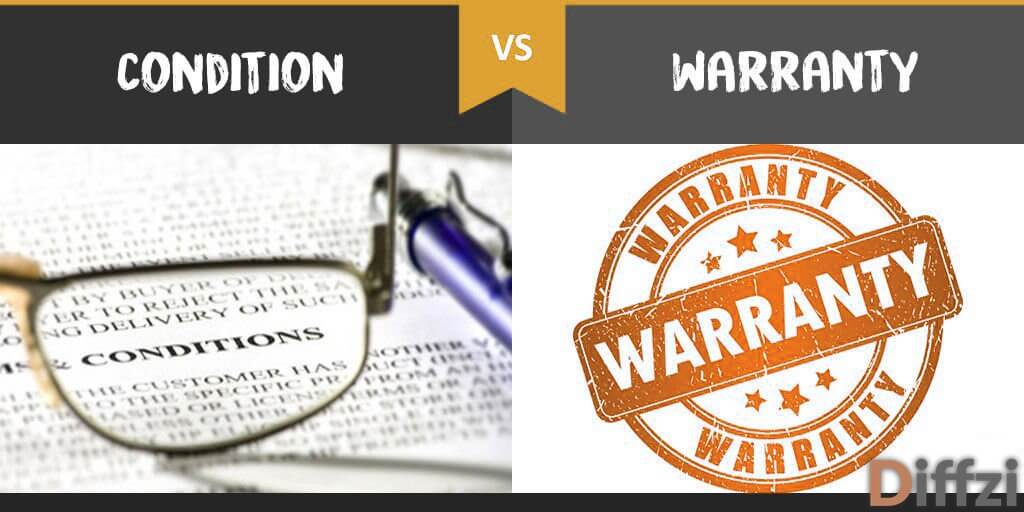 condition vs warranty