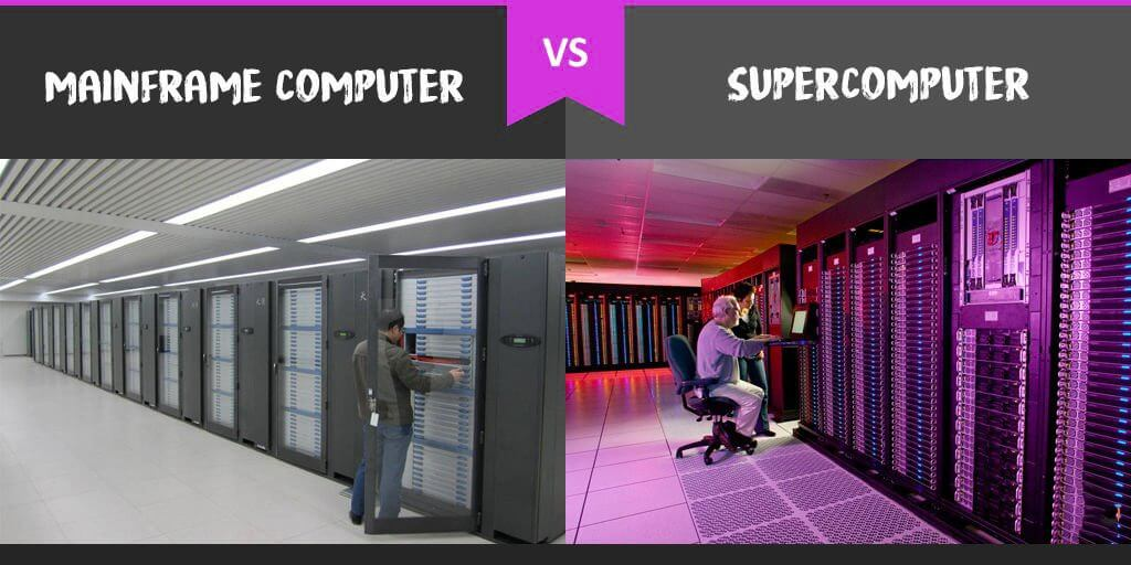 mainframe computer vs supercomputer