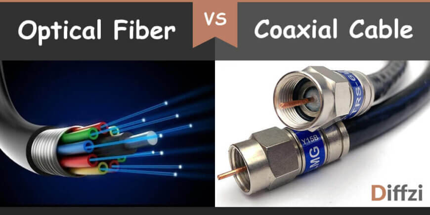 Optical Fiber Vs Coaxial Cable Difference And