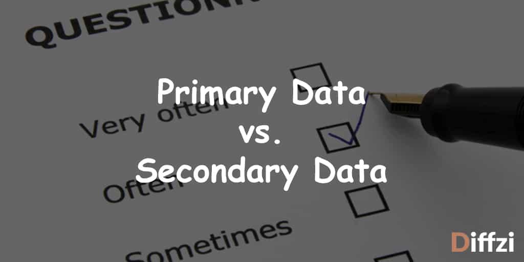 Primary Data vs. Secondary Data 1