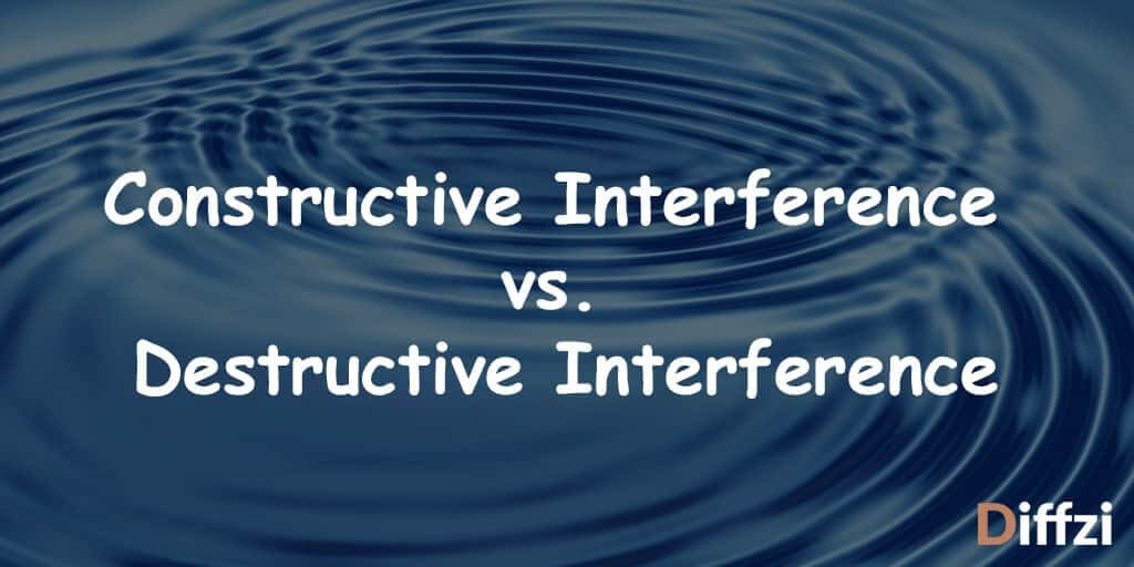 Constructive Interference vs. Destructive Interference