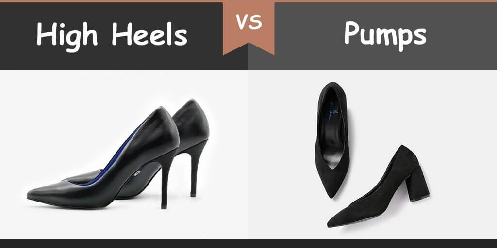 high heels vs pumps