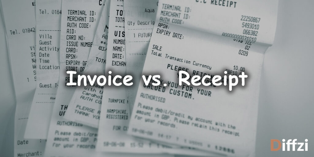 Invoice vs. Receipt