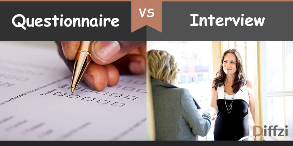questionnaire vs interview