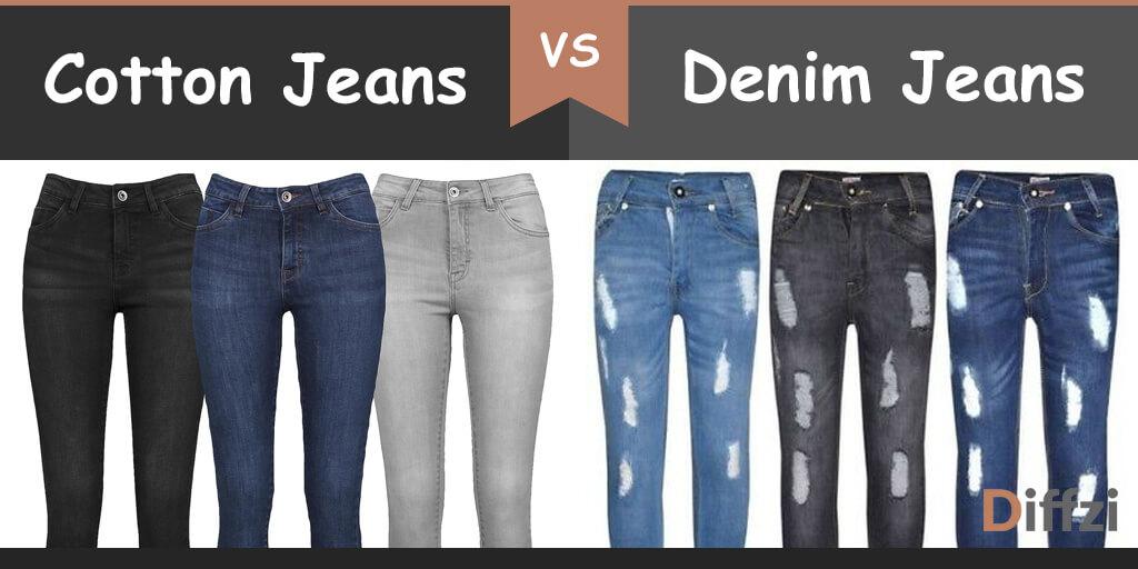cotton jeans vs denim jeans