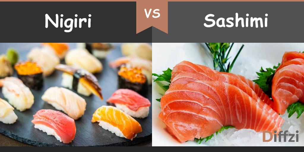nigiri vs sashimi