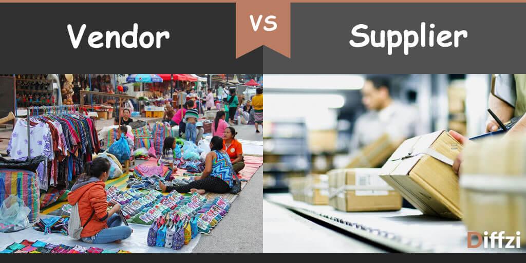 vendor vs supplier